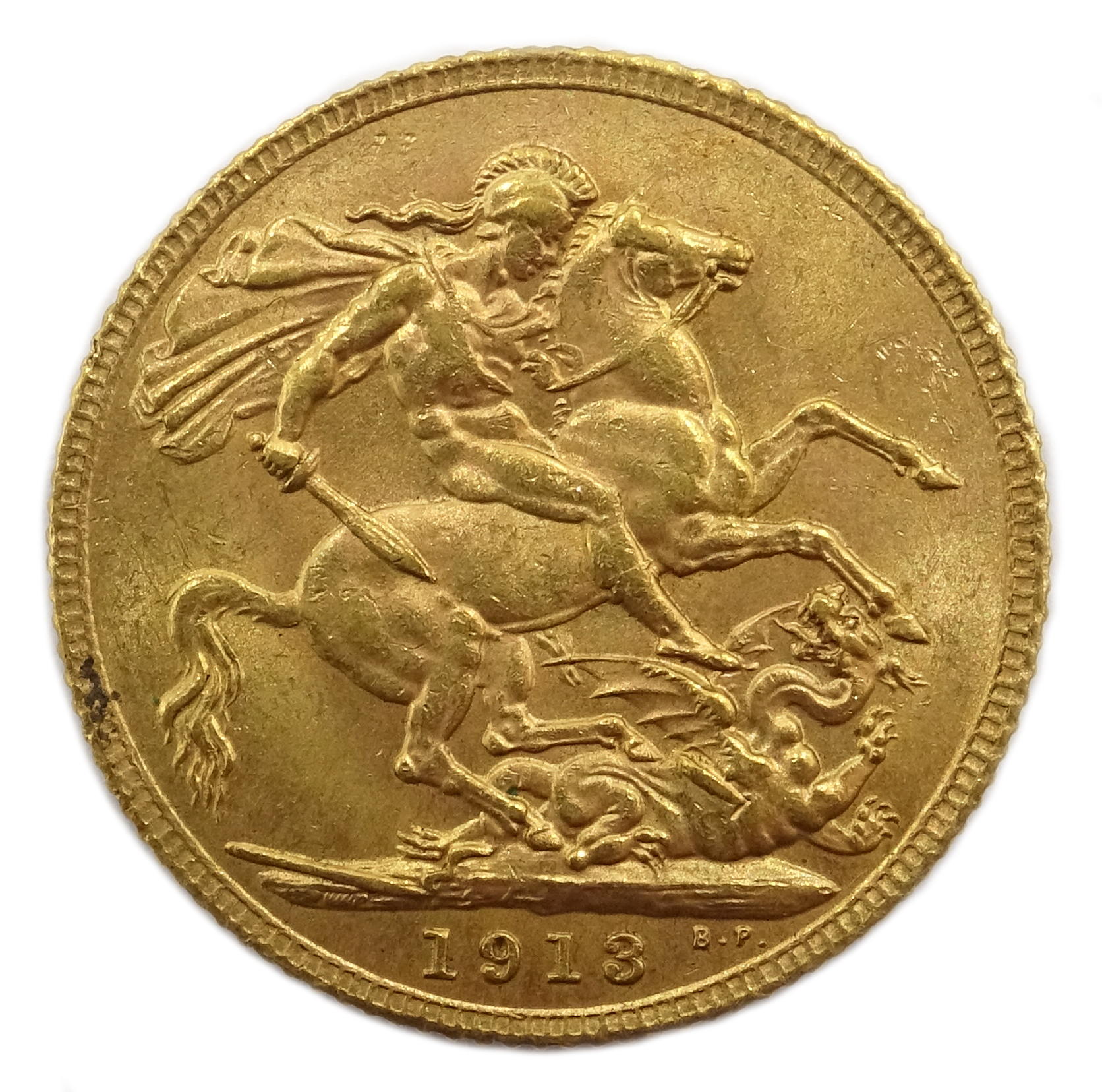 Lot 1038 - 1913 gold full sovereign Condition Report & Further Details <a href='//www.