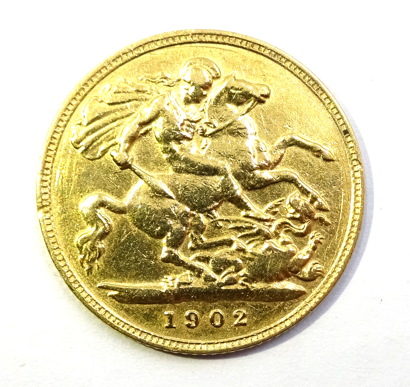 Lot 1051 - 1902 gold half sovereign Condition Report & Further Details <a href='//www.