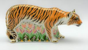 Royal Crown Derby 'Sumatran Tiger' paperweight, boxed and with gold stopper