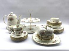 Minton 'Marlow' pattern table service comprising six dinner plates, six dessert bowls, six tea cups
