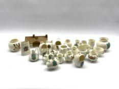 Quantity of Goss crested ware including Burns cottage, Dover castle stone vessel, Flemish bottles et