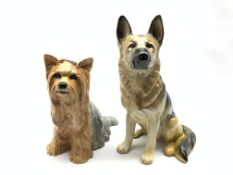 Beswick Fireside model of an Alsatian No. 2410 and another of a Yorkshire Terrier No. 2377