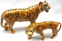 Beswick model of a Tiger No. 2096 and another of a Tigress No. 1486