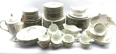 KPM dinner and coffee service comprising 12 dinner plates, side plates, soup bowls, tea plates, coff