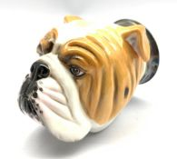 Royal Stratford stirrup cup modelled as a Bulldog, with certificate H12cm
