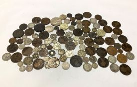 18th Century and later Great British and World coins including, Queen Victoria bun head pennies, Kin