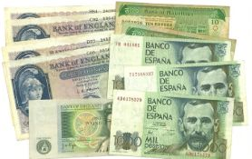 Great British and World banknotes comprised of five Bank of England O'Brien five pound notes, Page o