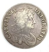 Charles II 1672 crown coin
