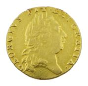 George III 1797 gold spade guinea coin, previously mounted
