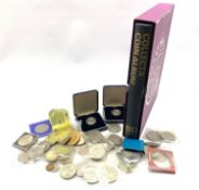 Great British coins including, commemorative crowns, six two pound coins, two 1992 pattern one ecu c