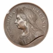 Unidentified medallion, the obverse depicting Queen Victoria, the reverse depicting seated Britannia