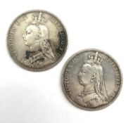 Queen Victoria 1889 and 1890 crown coins