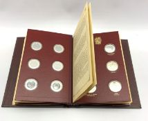 Set of twenty-four sterling silver proof 'Churchill Centenary Medals' by John Pinches 'issued in 197