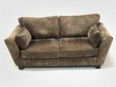 Barker and Stonehouse - Two seat sofa, upholstered in brown fabric, (W212cm)