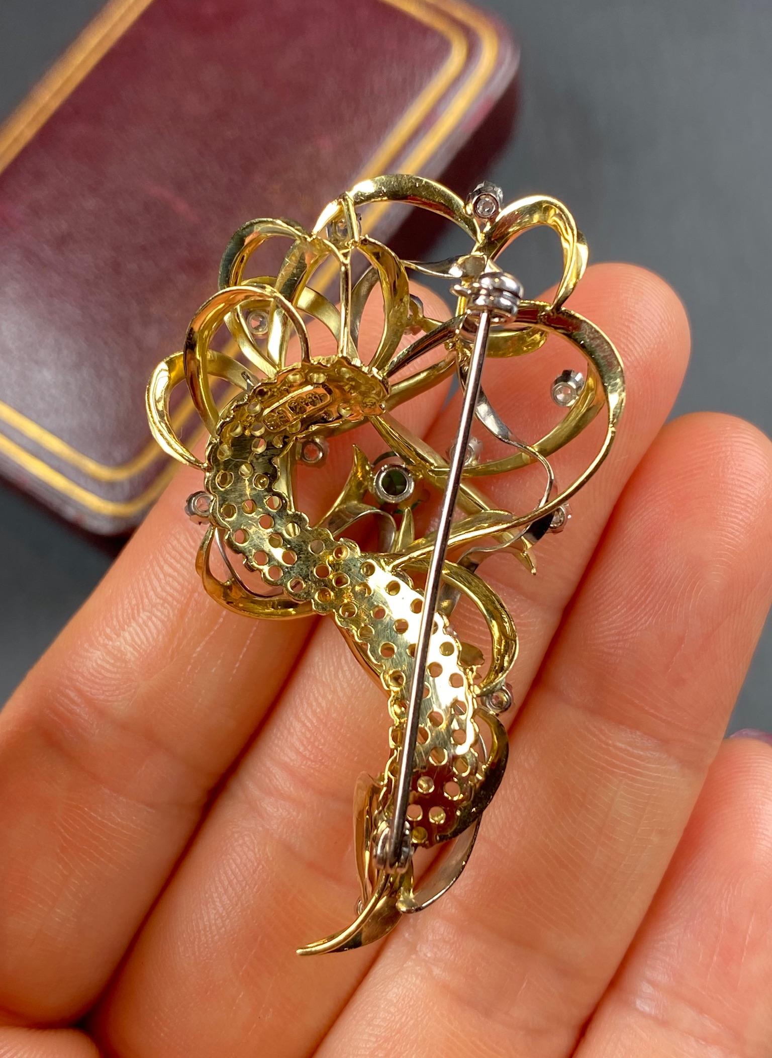 Emerald and Diamond Brooch - Image 5 of 6