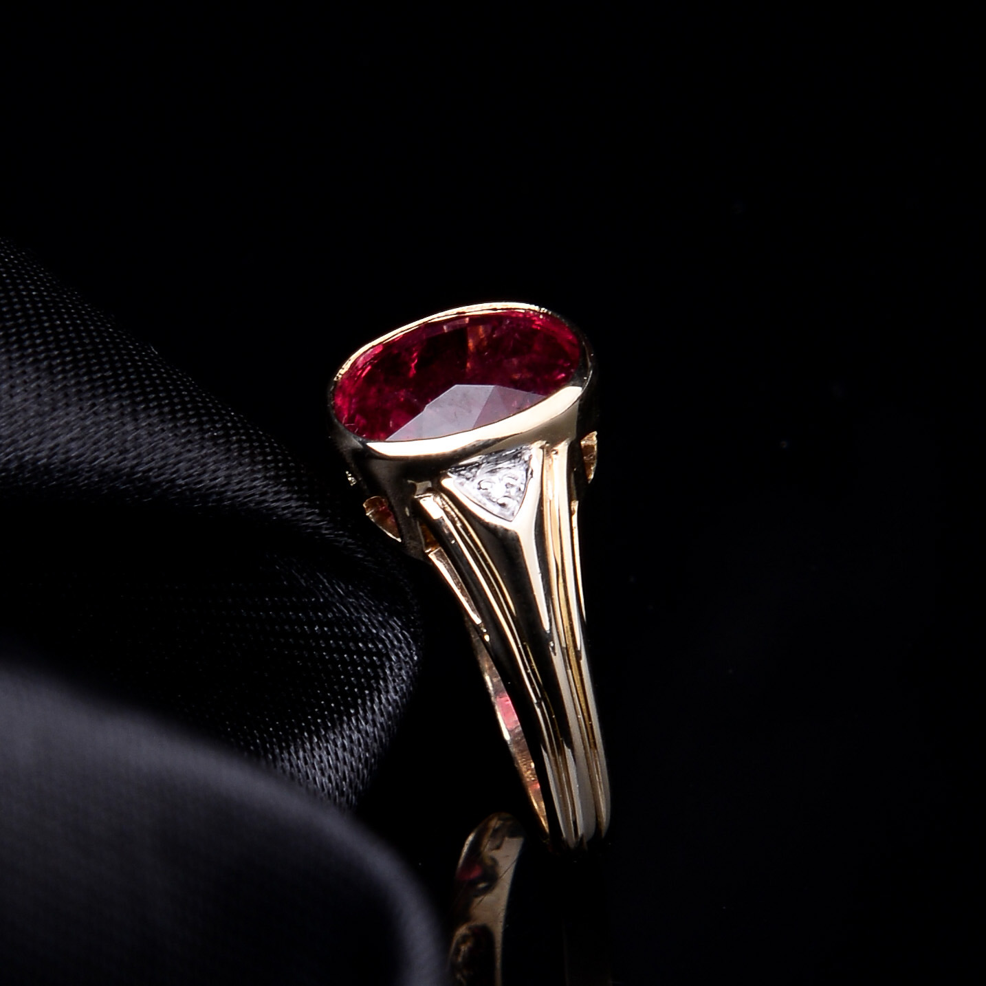 Rubellite and Diamond Ring - Image 6 of 8