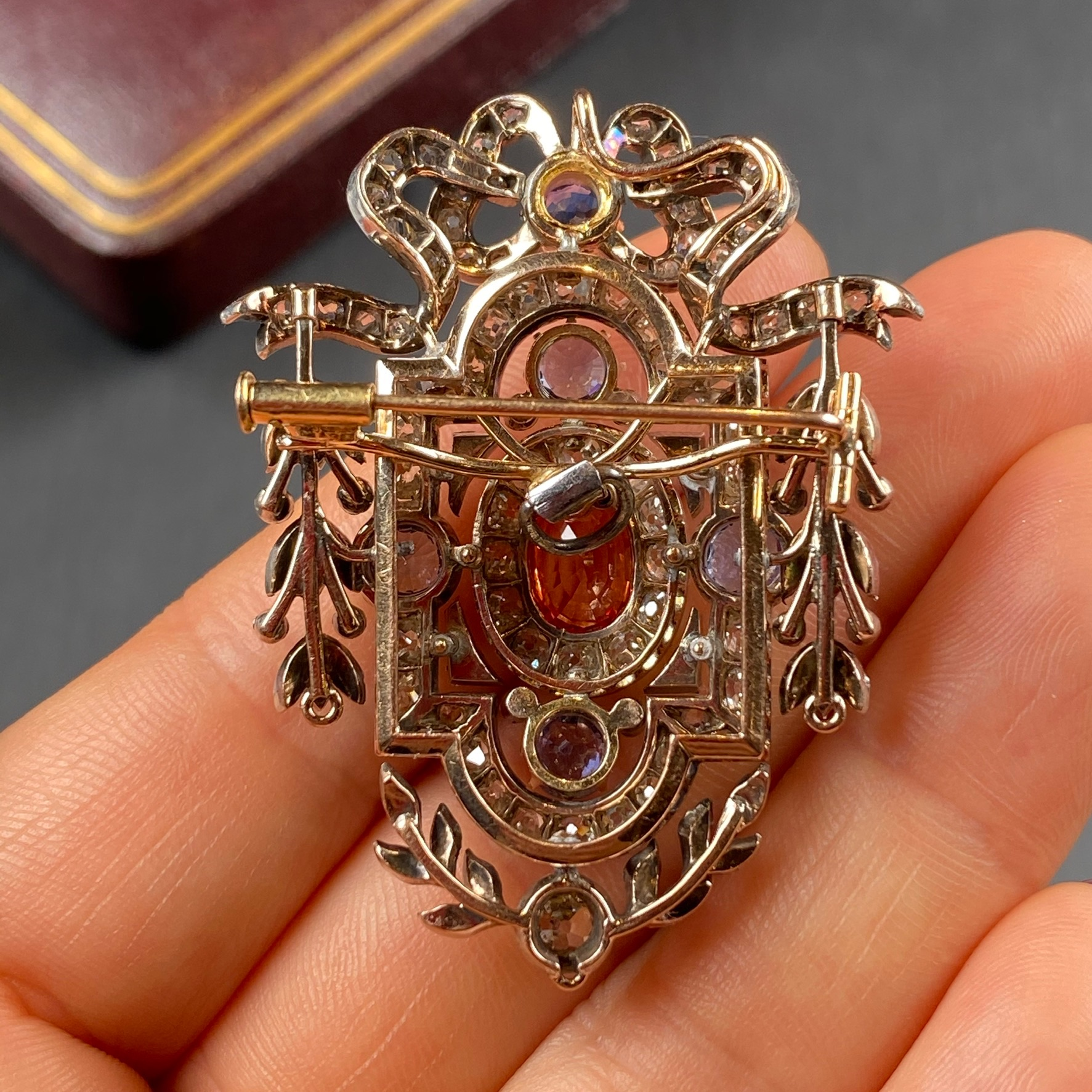 Sapphire Brooch, Victorian - Image 3 of 8