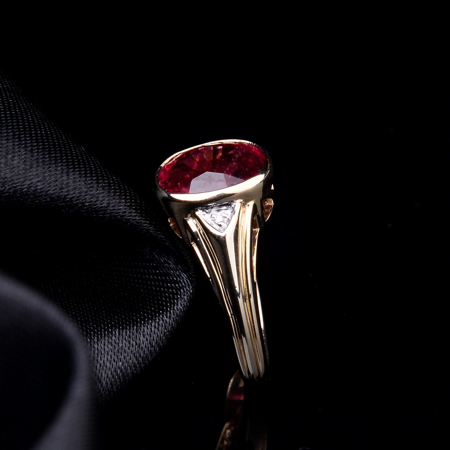 Rubellite and Diamond Ring - Image 5 of 8