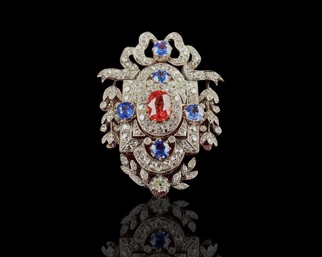 Sapphire Brooch, Victorian