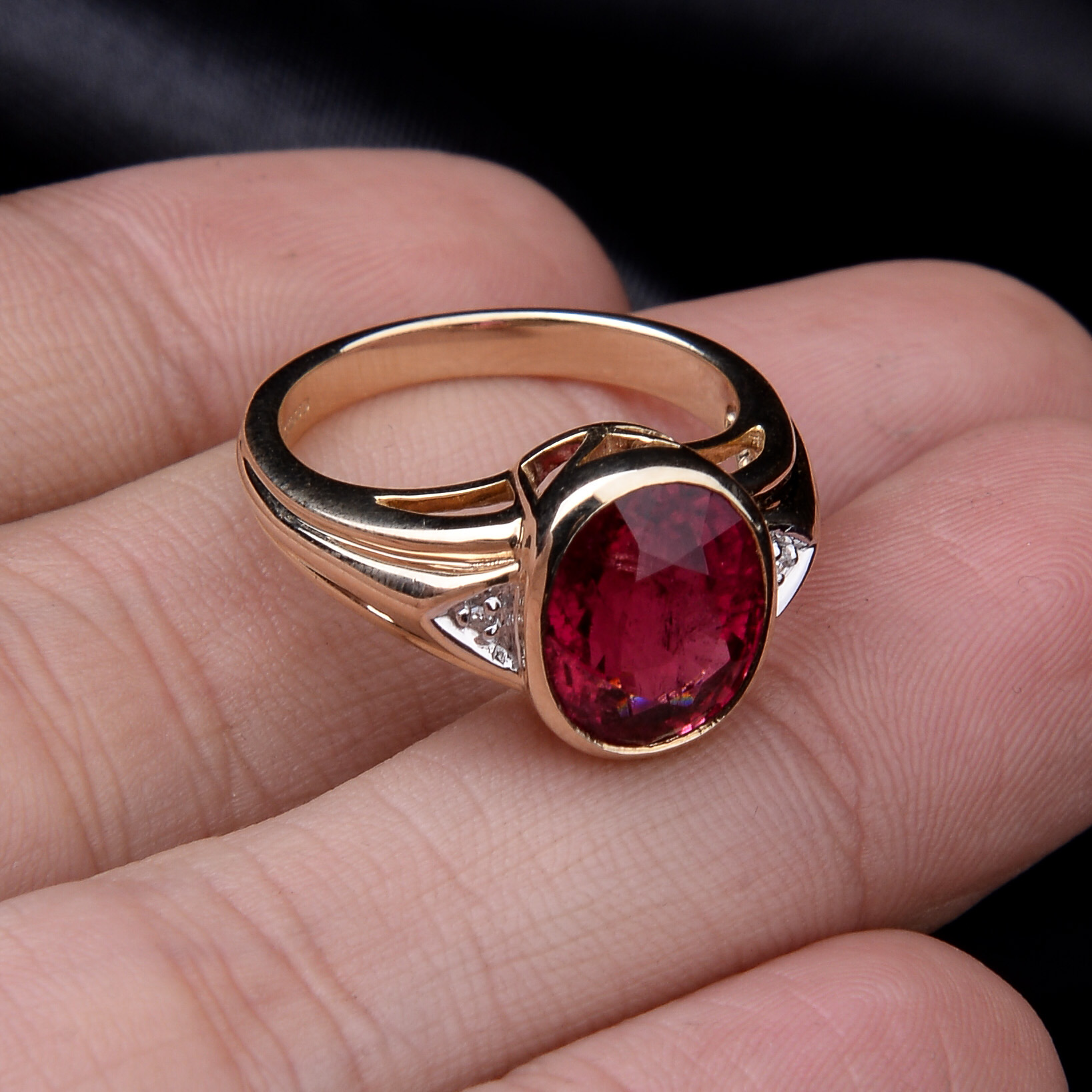 Rubellite and Diamond Ring - Image 3 of 8