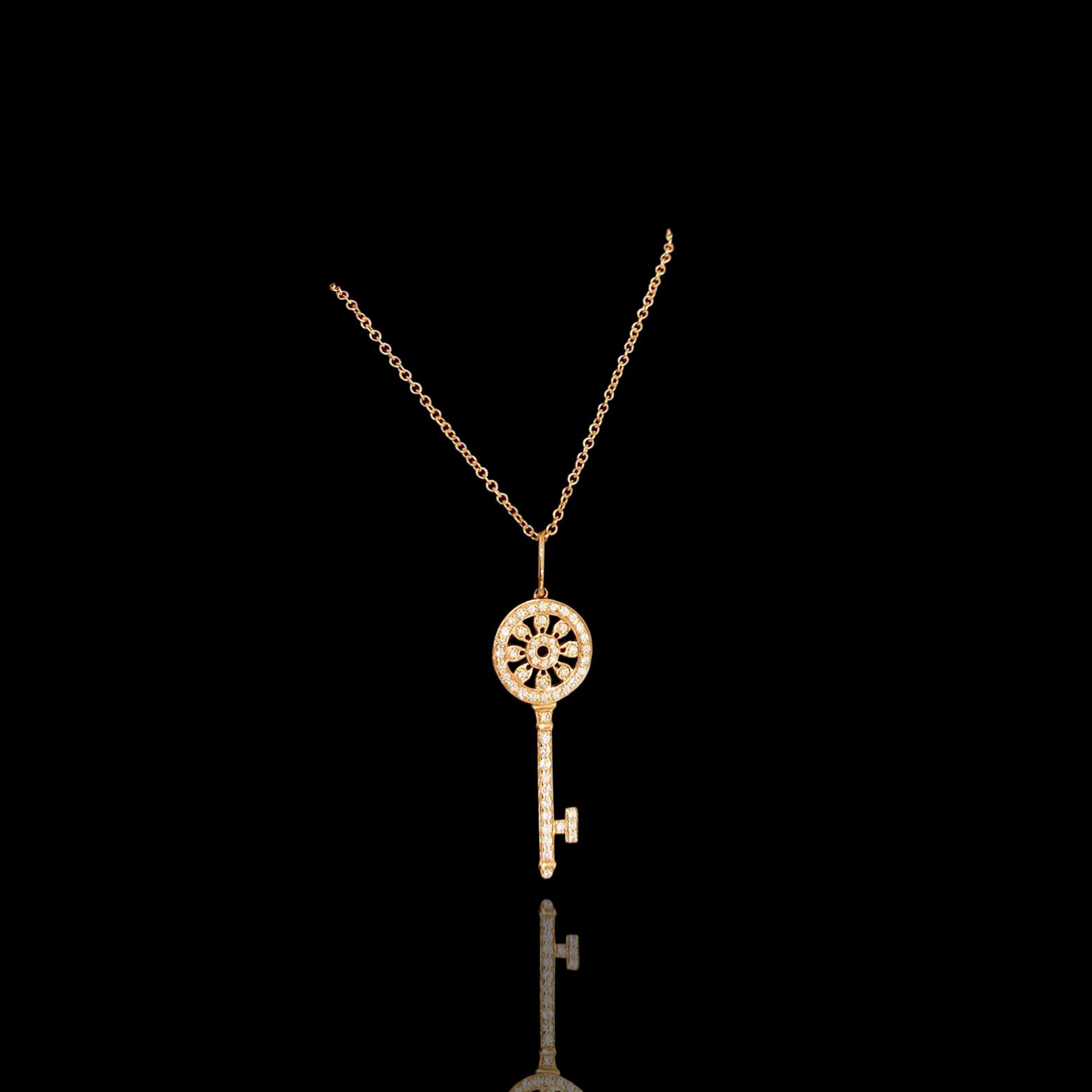 Lot 41 - Tiffany Petal Key Necklace, Tiffany & Co.