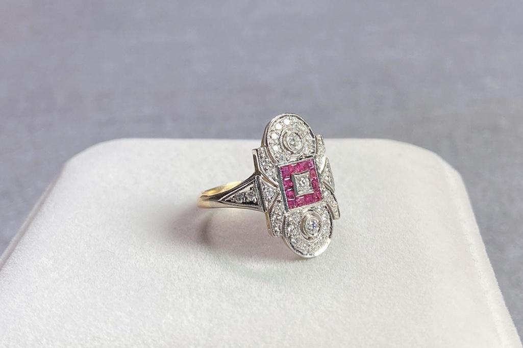 Lot 14 - Ruby and Diamond Ring, Edwardian