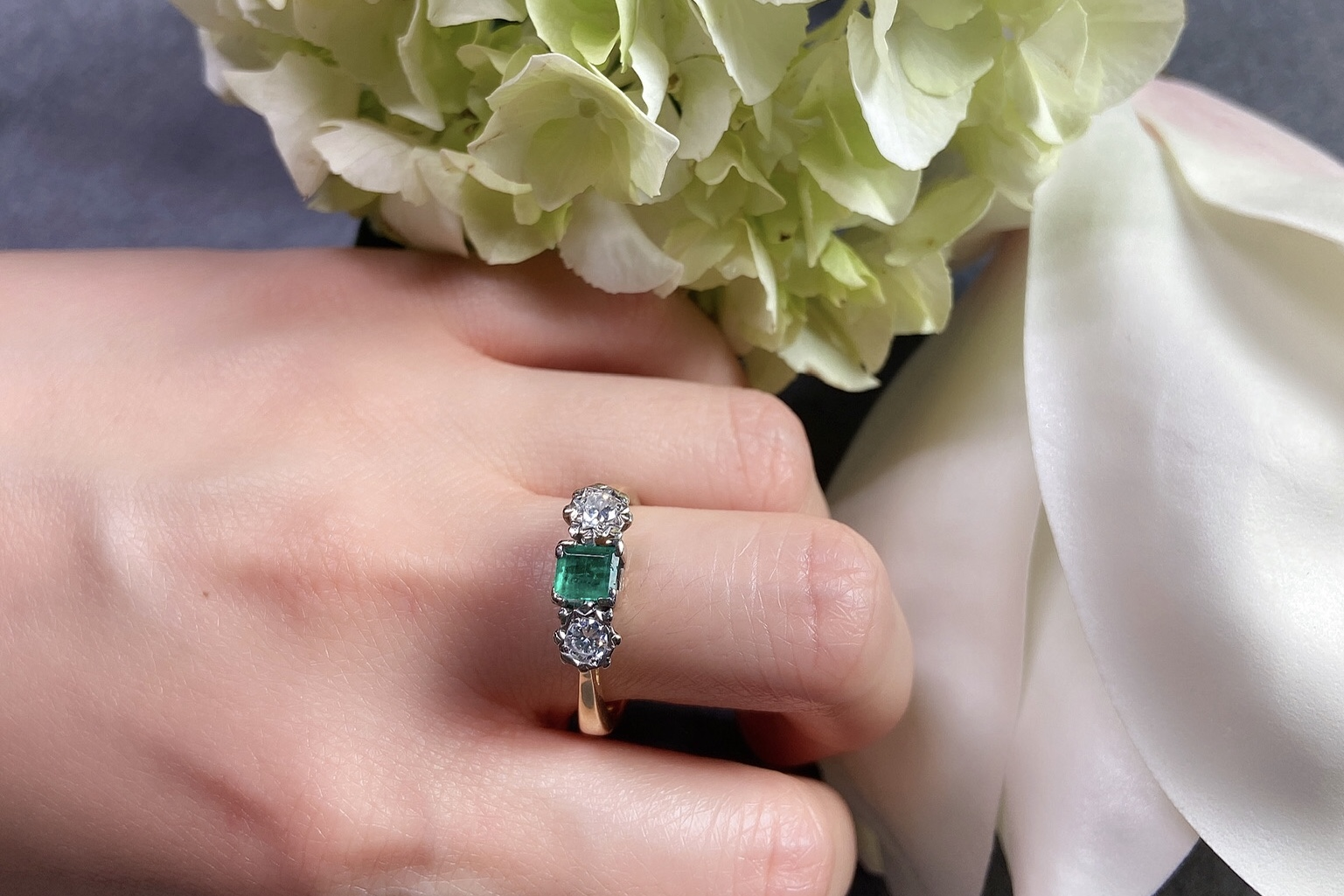 Lot 13 - Emerald and Diamond Ring, Edwardian