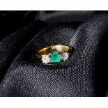 Emerald and Diamond Ring, Edwardian