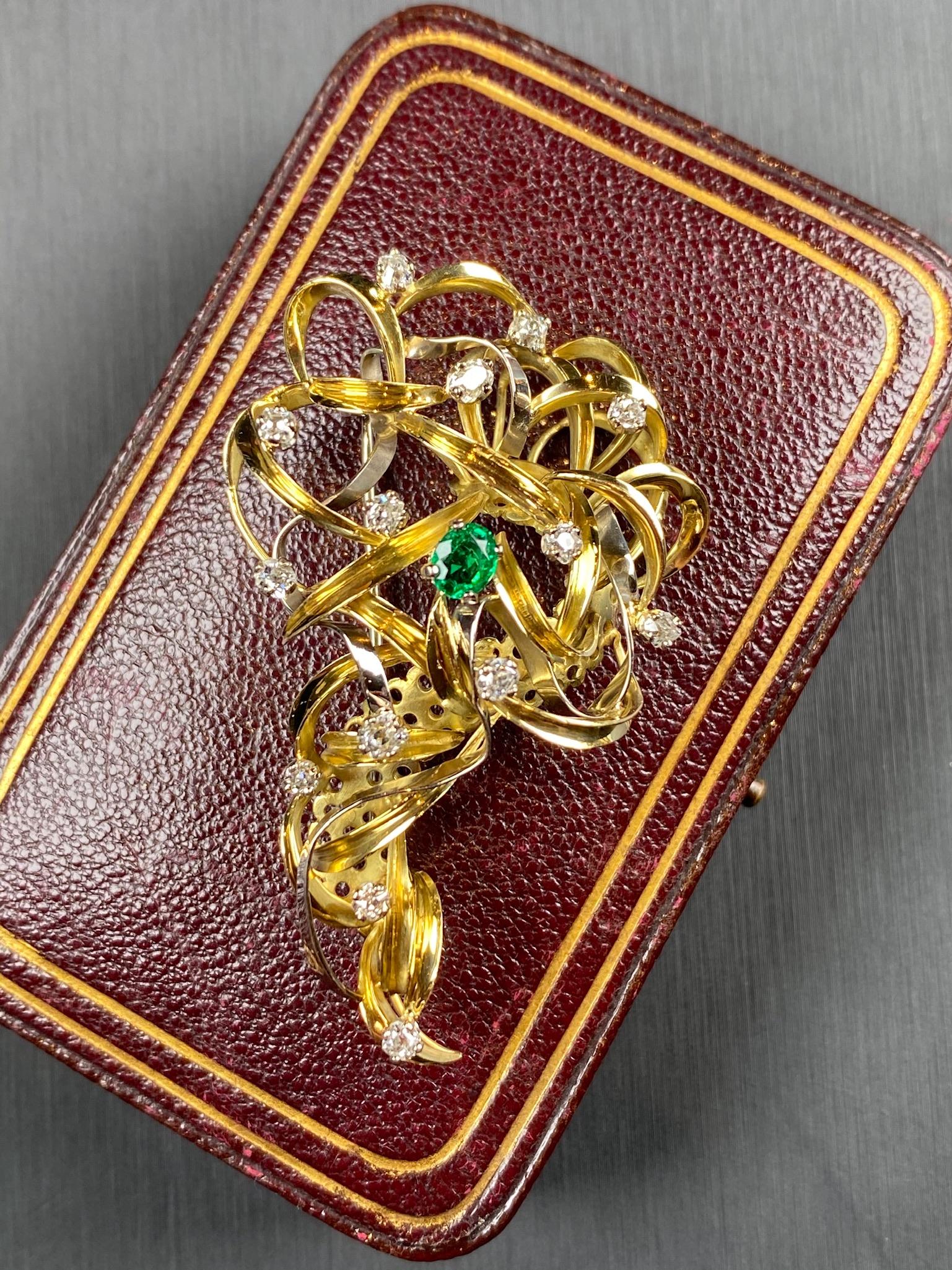 Emerald and Diamond Brooch - Image 2 of 6