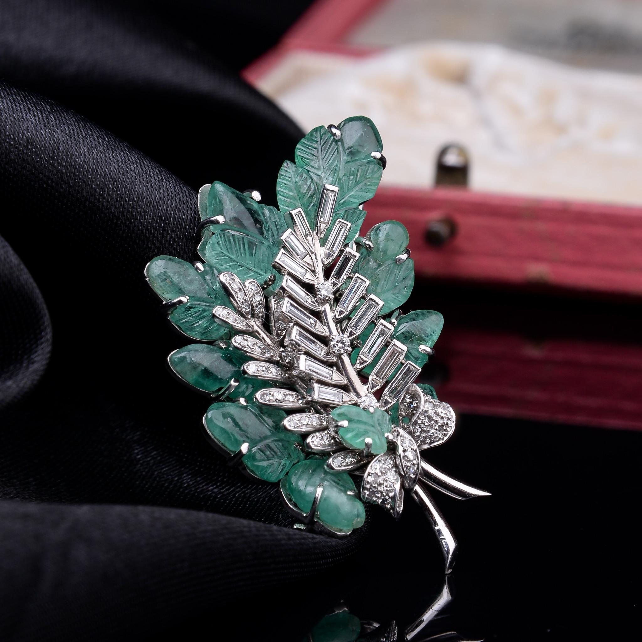 Lot 15 - Emerald and Diamond 'Tutti Frutti' Brooch, 1930s