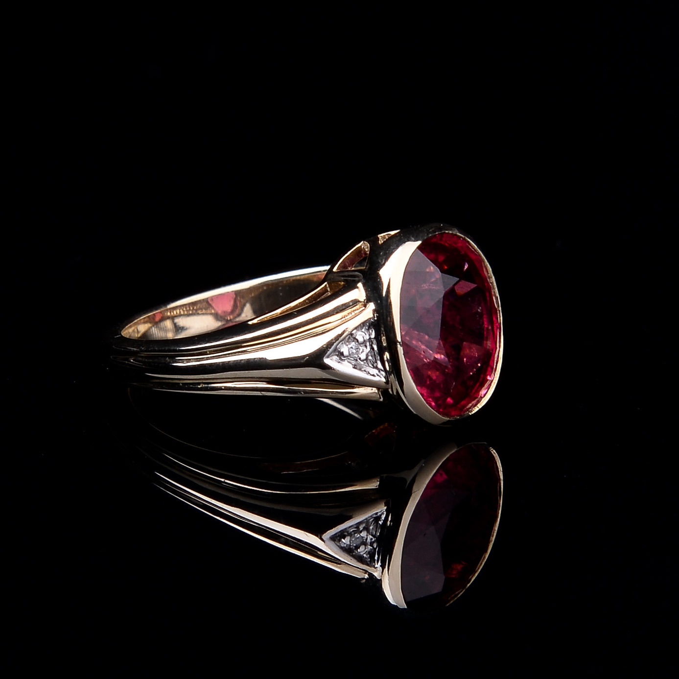 Rubellite and Diamond Ring - Image 2 of 8