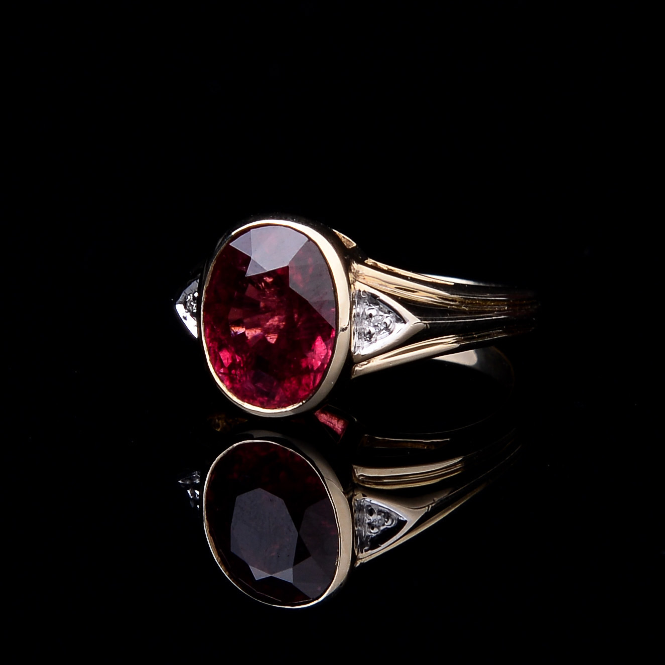 Rubellite and Diamond Ring - Image 8 of 8