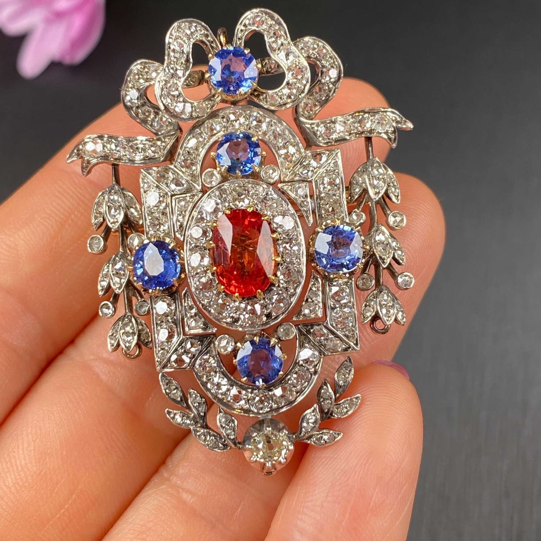 Sapphire Brooch, Victorian - Image 2 of 8