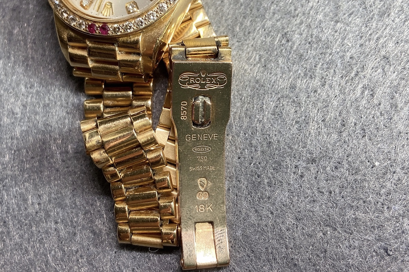 Lot 22 - 18K Gold, Ruby and Diamond Wristwatch, Rolex