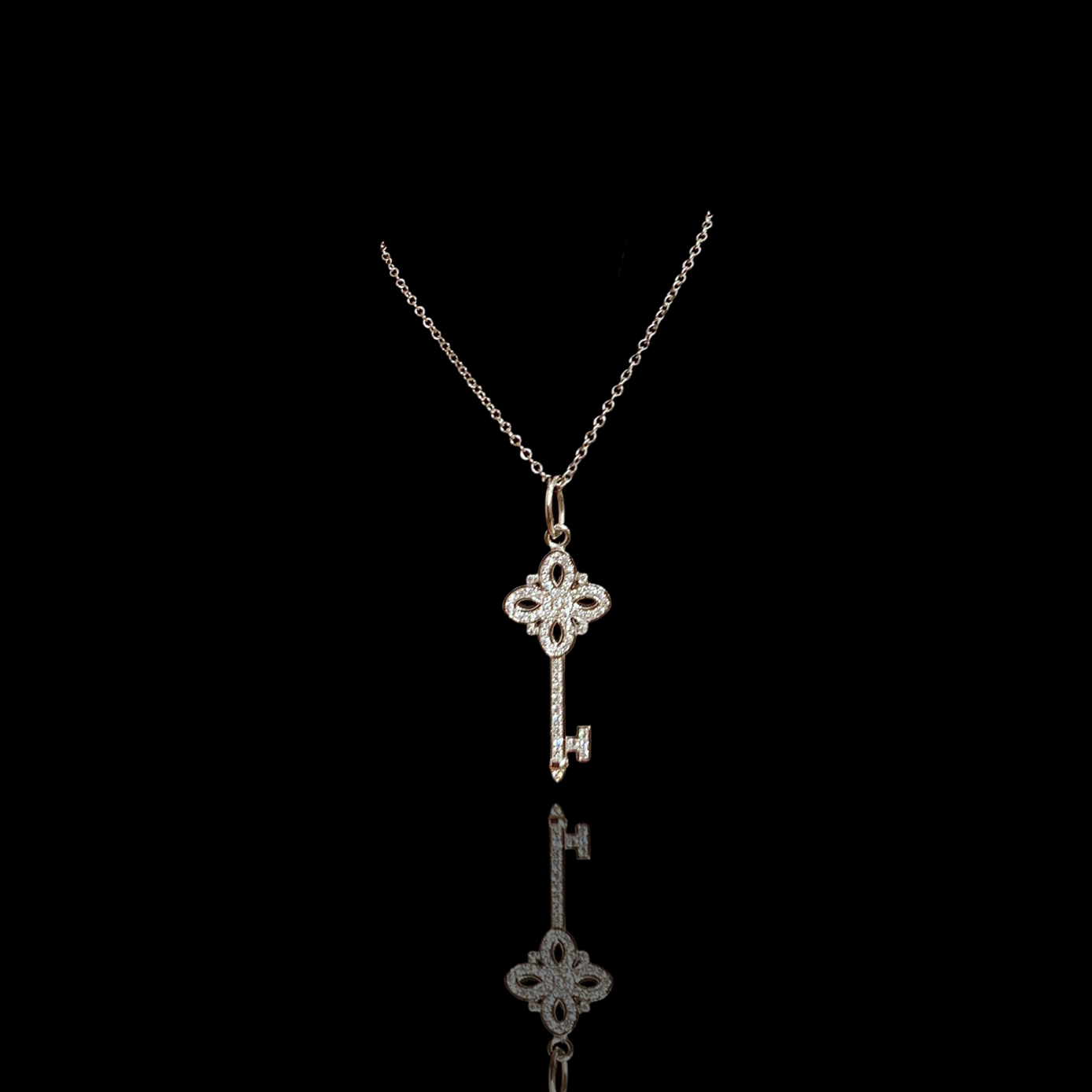 Lot 42 - Tiffany Victoria Key Necklace, Tiffany & Co.