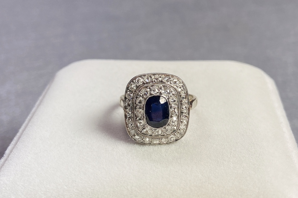 Lot 26 - Sapphire and Diamond Ring, 1900s