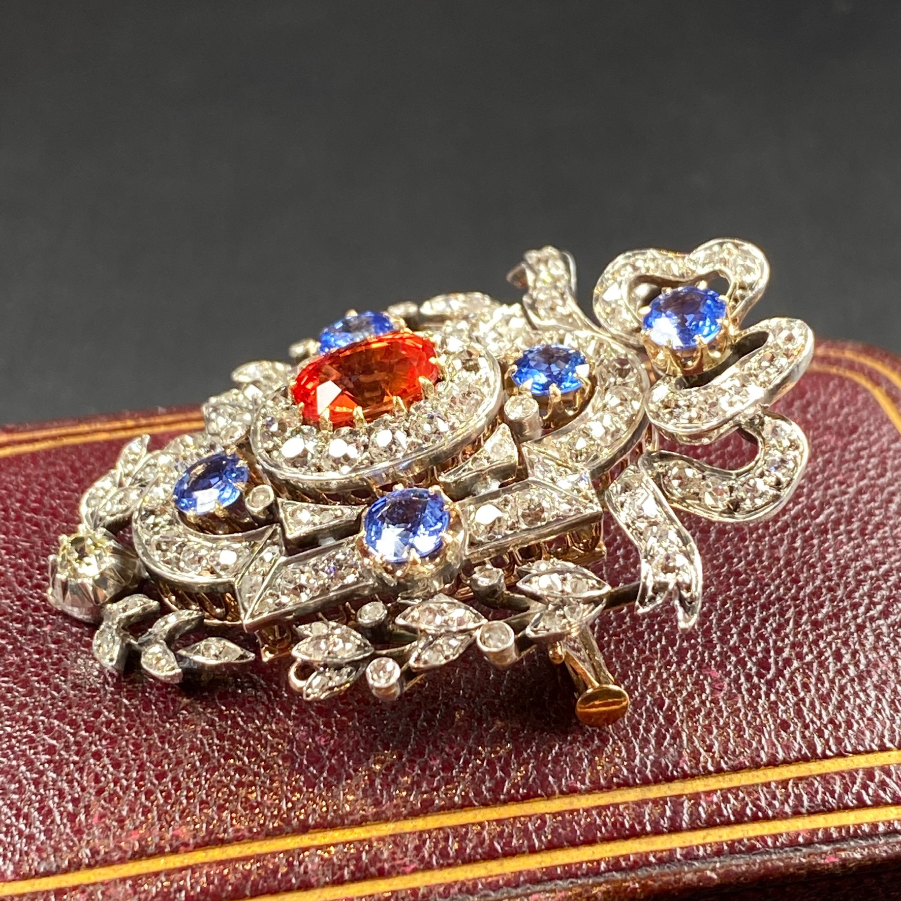 Sapphire Brooch, Victorian - Image 6 of 8