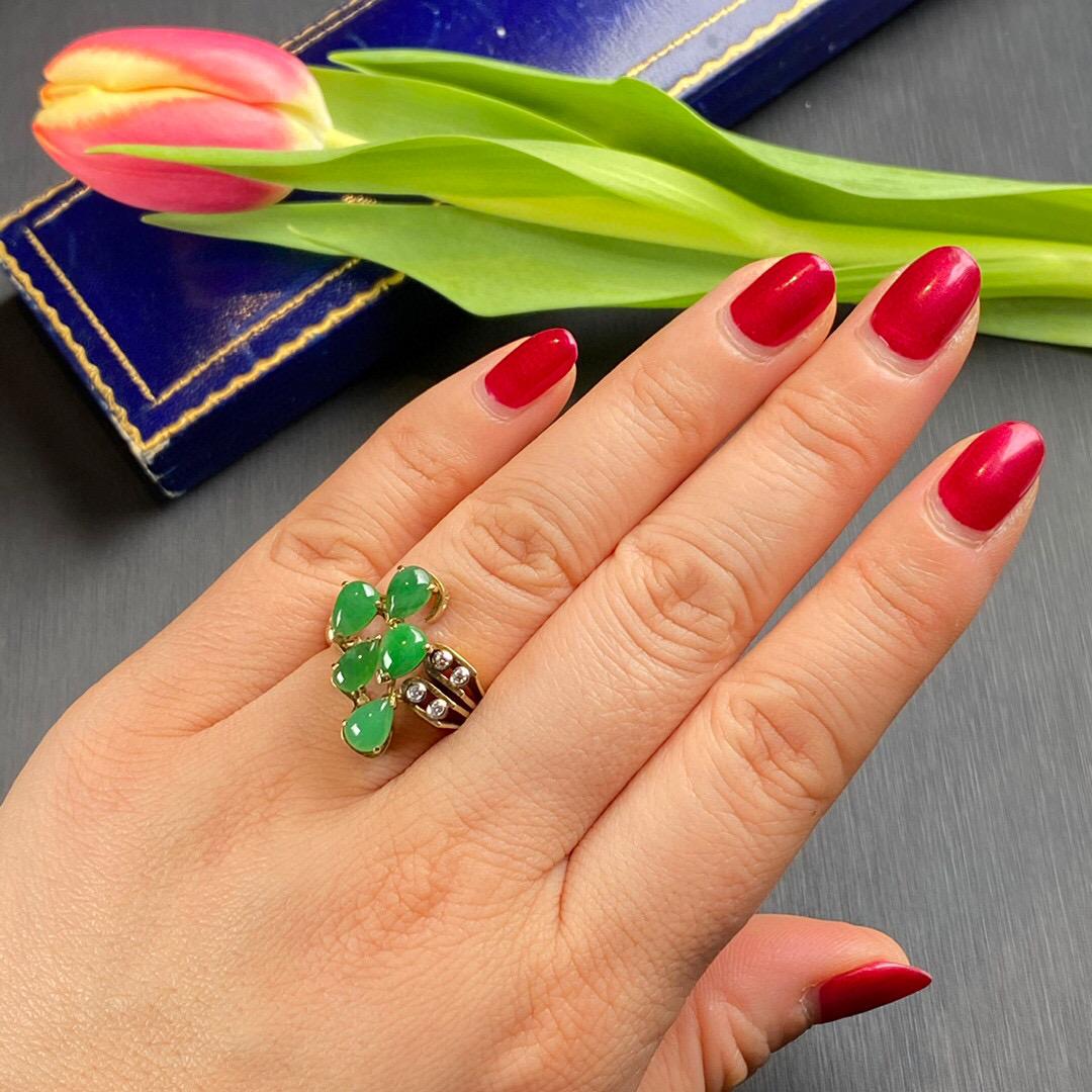 Lot 38 - Jadeite and Diamond Ring, 1940s