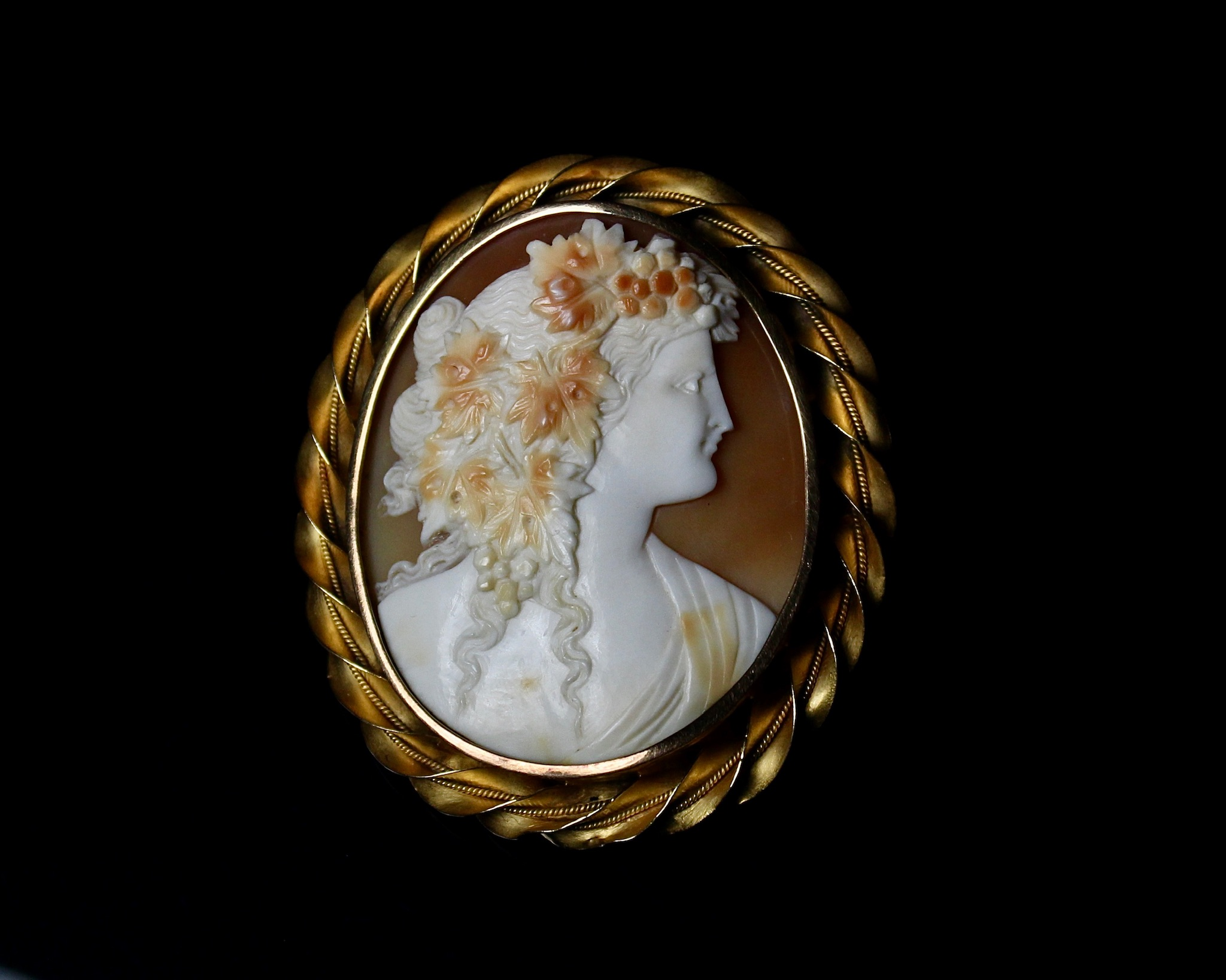 Mother-Of-Pearl 'Flora' Brooch, 19th Century