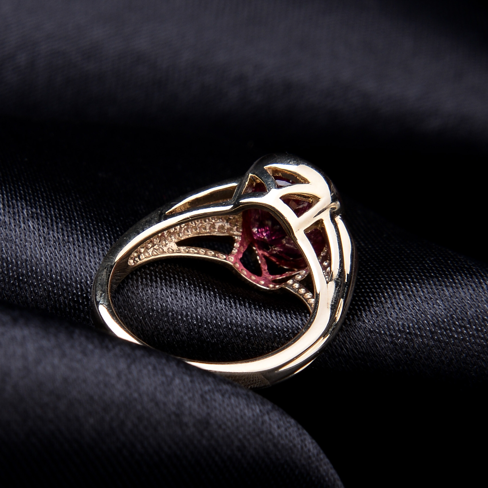 Rubellite and Diamond Ring - Image 7 of 8