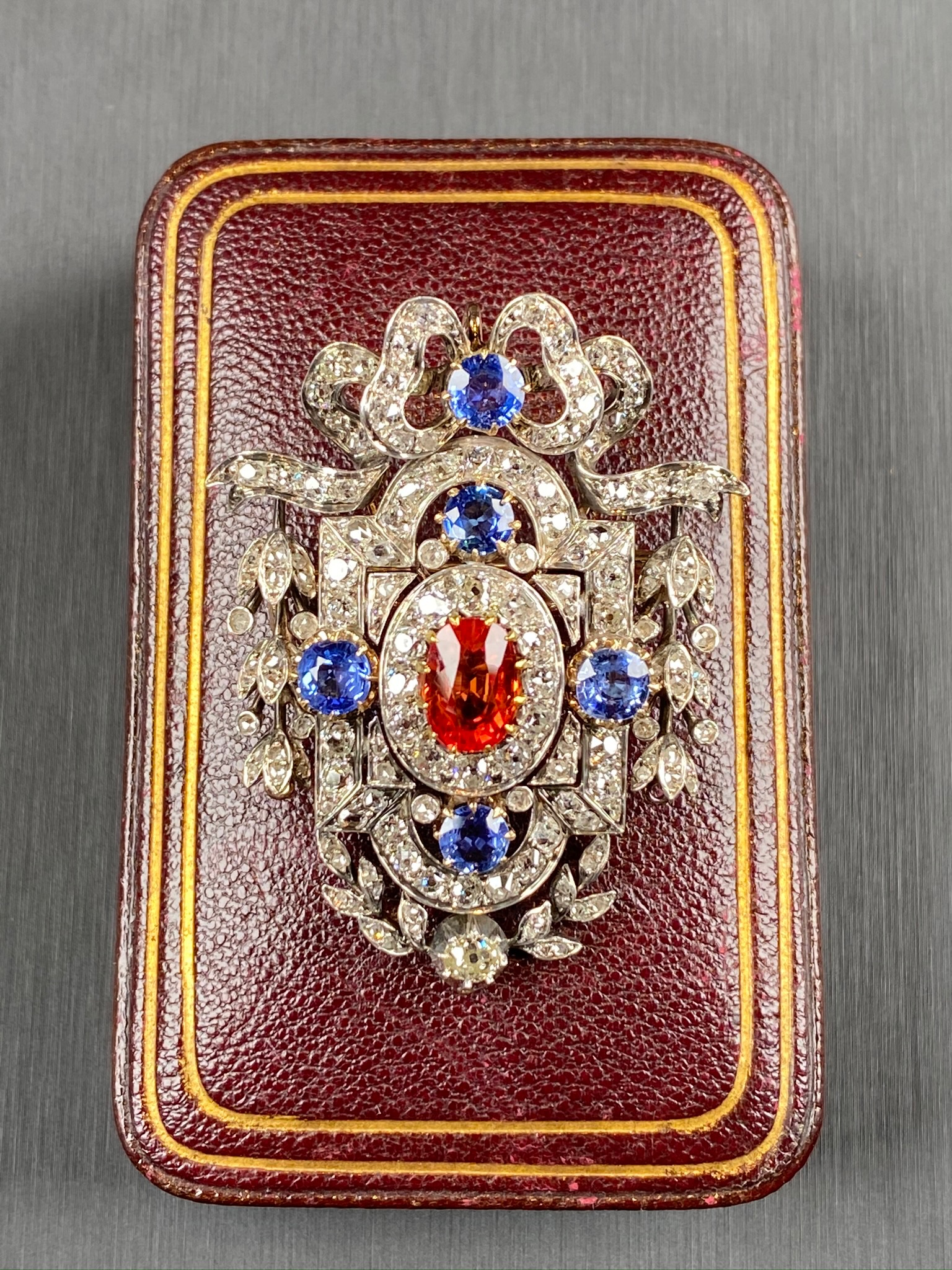Sapphire Brooch, Victorian - Image 5 of 8