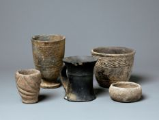 A Group Of Pottery Ware, Hongshan Culture (4500-3000 Bc) And Erlitou Culture (2000-1500 Bc)