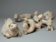 A Group Of Pottery Spirit Figures, Tang Dynasty