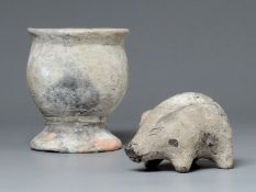 A Group Of Pottery Ware, Hemudu Culture (5000-3300 Bc)