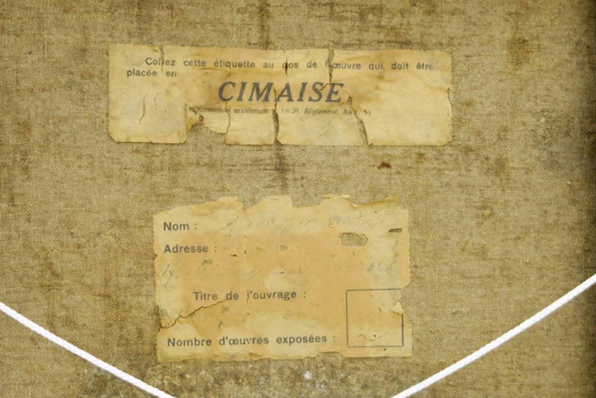 """Los 644 - GLUCKMANN GREGORY (1898 - 1973) olieverfschilderij op doek : """"De ceremonie"""" - 50 x [...]"""