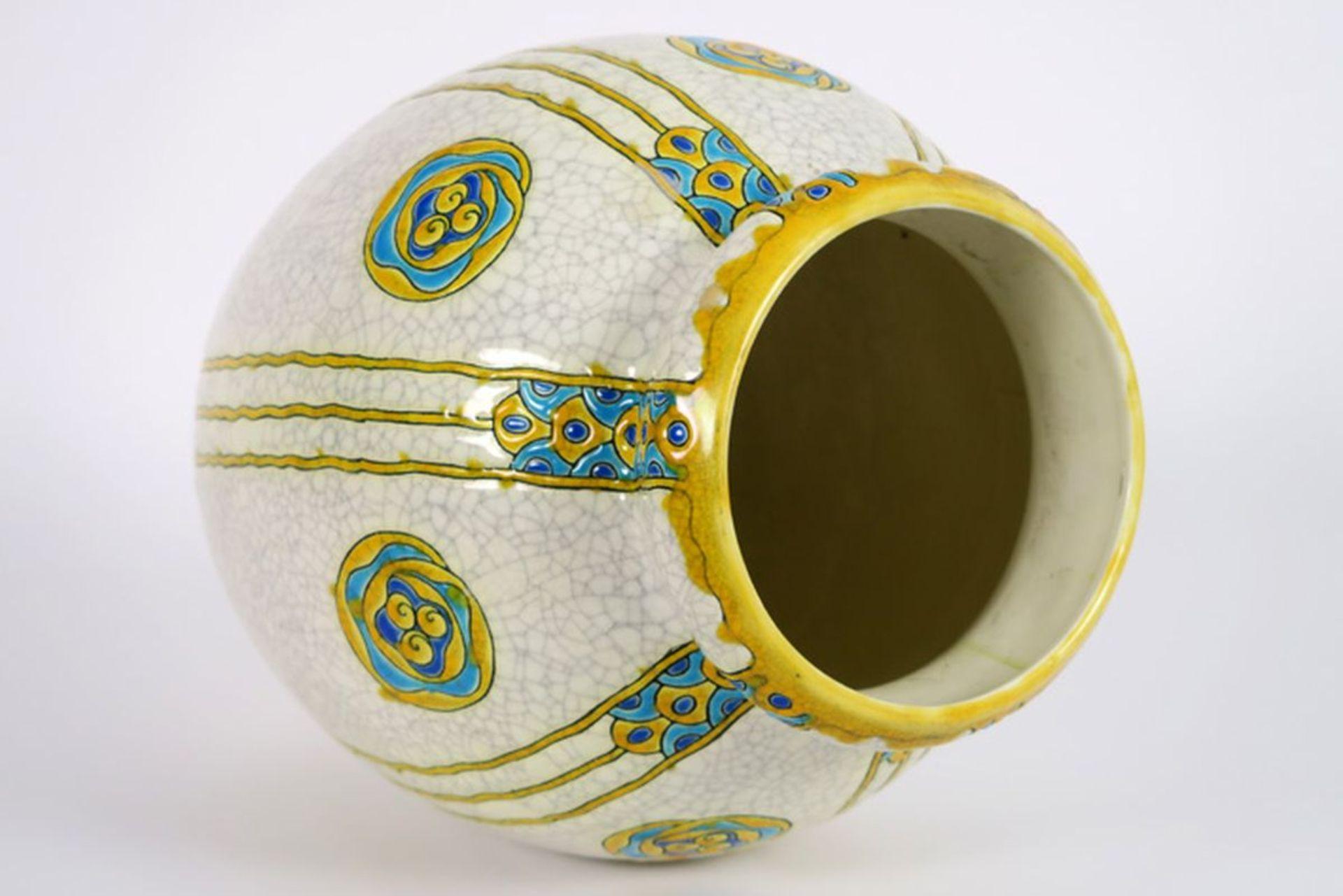 Los 619 - CATTEAU CHARLES (1880 - 1966) Art Deco-vaas (model n° 897) in faïence, gemerkt [...]