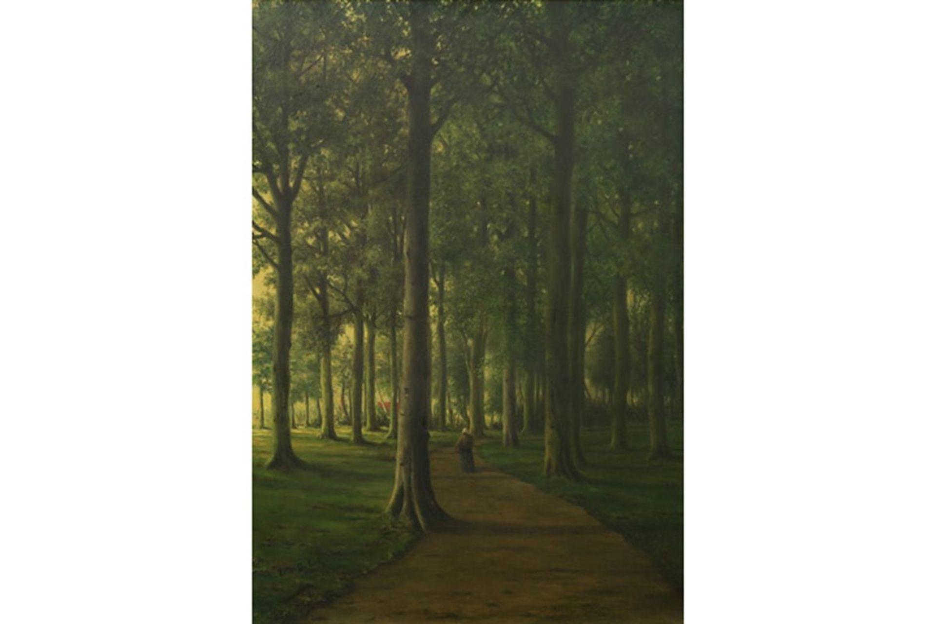 Los 640 - DE COCK CÉSAR (1823 - 1904) olieverfschilderij op paneel getiteld (op verso) [...]