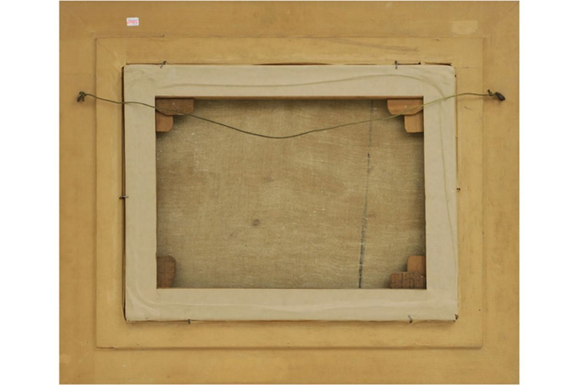 """Los 636 - MALFAIT HUBERT (1898 - 1971) olieverfschilderij op doek : """"Landschap met hooimijten [...]"""