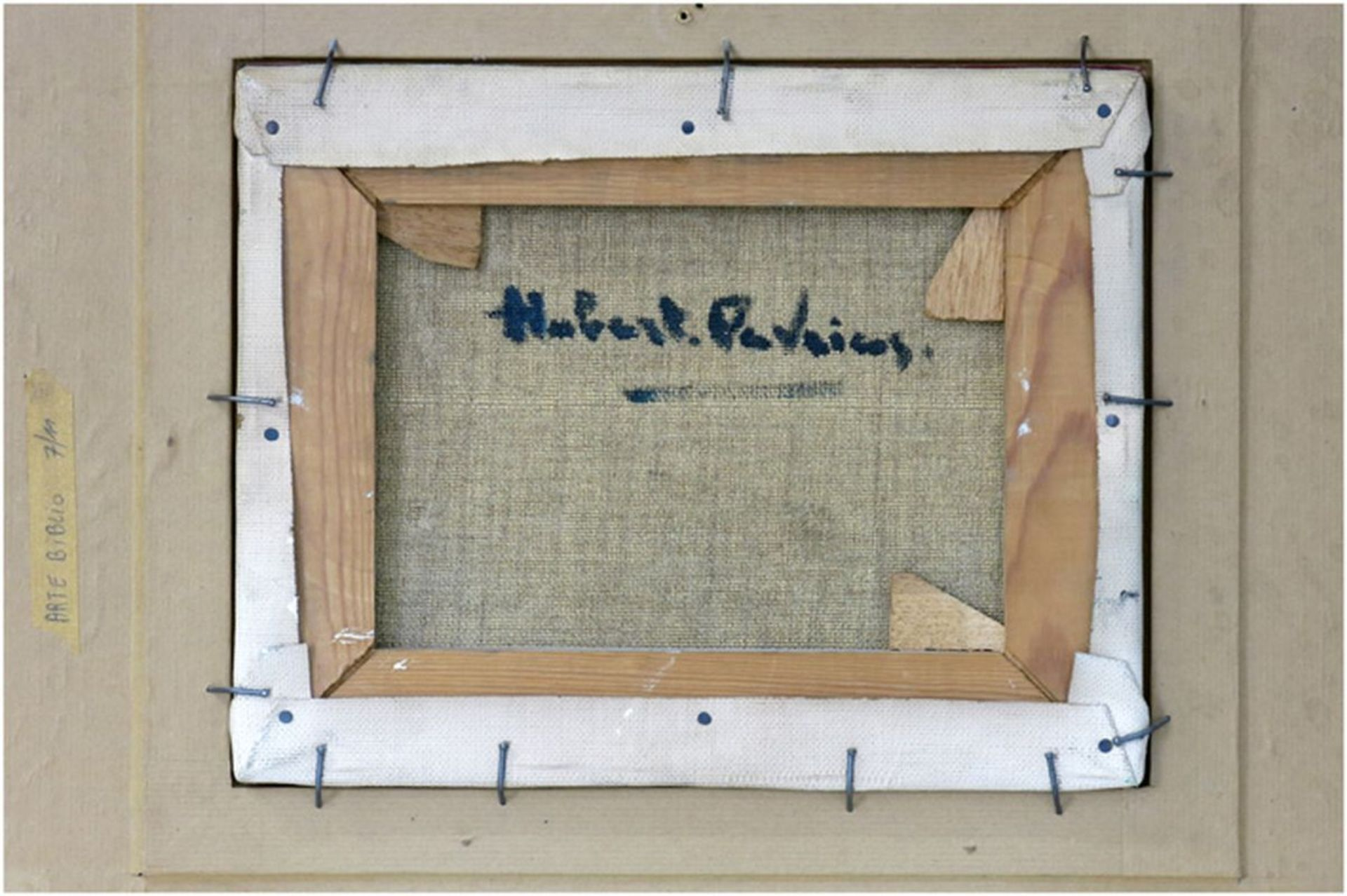 """Los 650 - DE VRIES HUBERT, HENRI (° ANTWERPEN 1899) olieverfschilderij op doek : """"Gestrande [...]"""