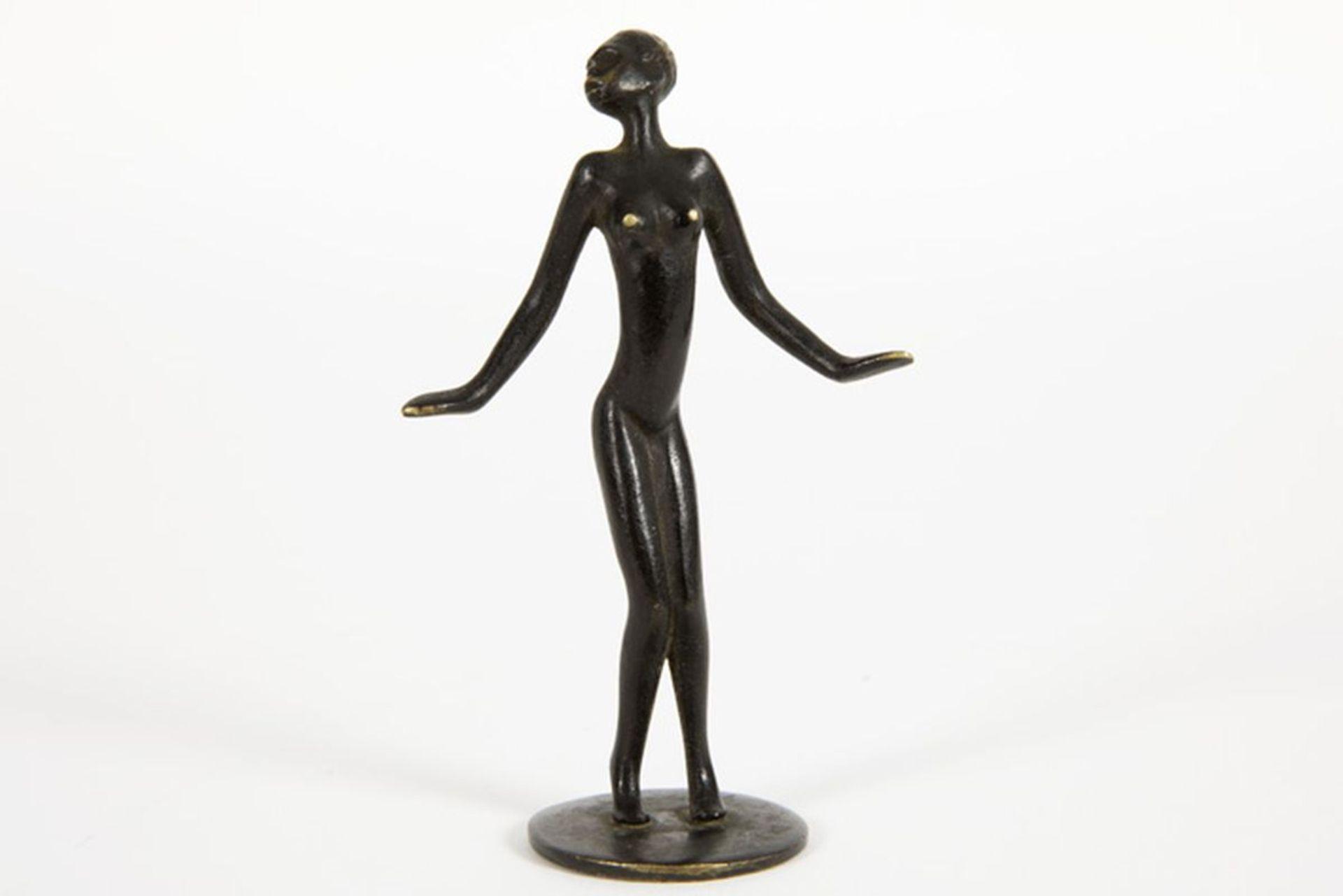 "Los 625 - ROHAC RICHARD (1906 - 1965) kleine Art Deco-sculptuur in brons : ""Zwarte danseres"" - [...]"